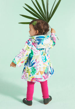 Louise's printed raincoat
