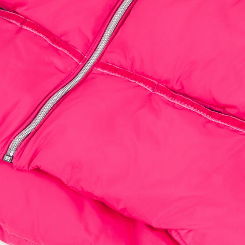 Pink winter warm puffer coat