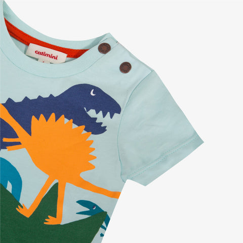 T-shirt with dinosaur print