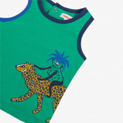 [LAST CHANCE*] Sleeveless t-shirt with an animal pattern