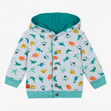 Reversible hooded dinosaur sweatshirt