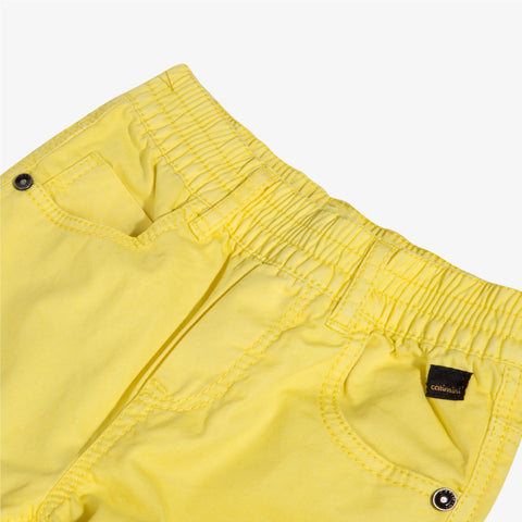 [LAST CHANCE*] Overdyed yellow gabardine bermuda shorts