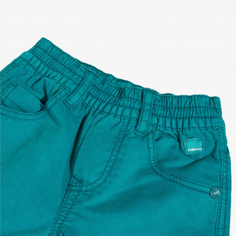 Gabardine bermuda shorts in emerald
