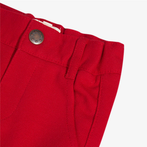 [LAST CHANCE*] Red pique bermuda shorts