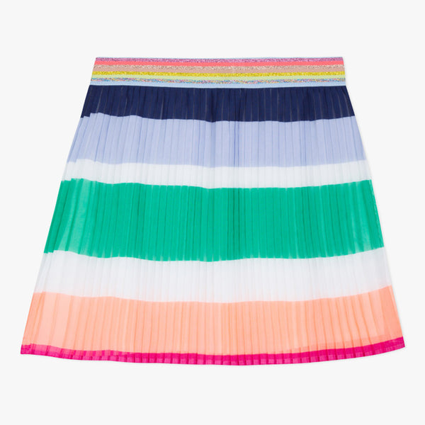 Colored printed voile skirt