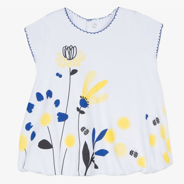 [LAST CHANCE*] Jersey bubble dress with mimosa print