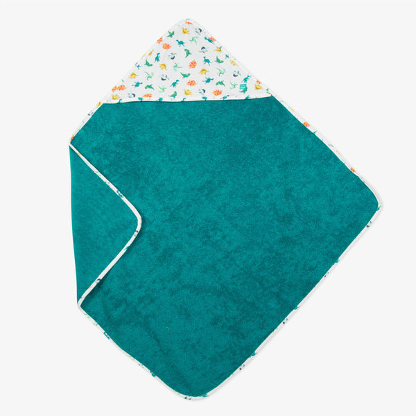 Bath cape in emerald blue towel