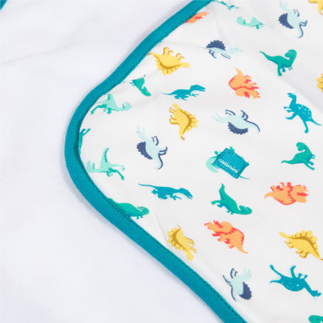 Microfleece blanket with dinosaur print