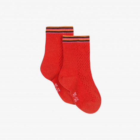 Fancy red socks