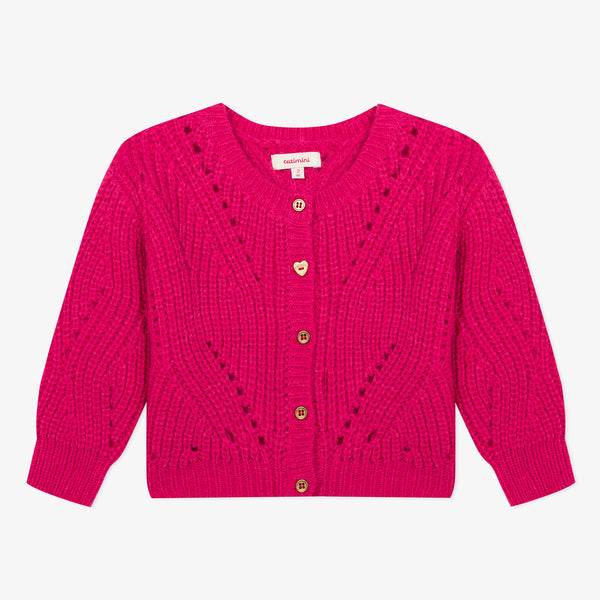 [LAST CHANCE*] Fuchsia pink knitted cardigan