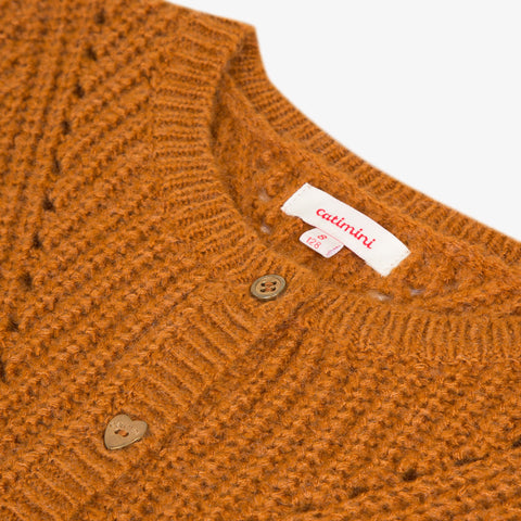 Camel knitted cardigan