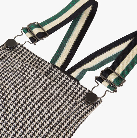 Houndstooth pinafore dress