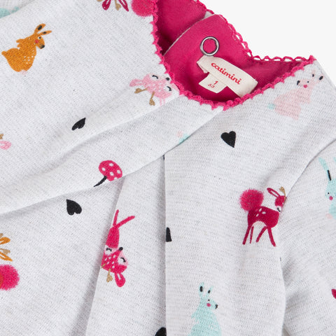Pink deer faux 2 in 1 jumpsuit