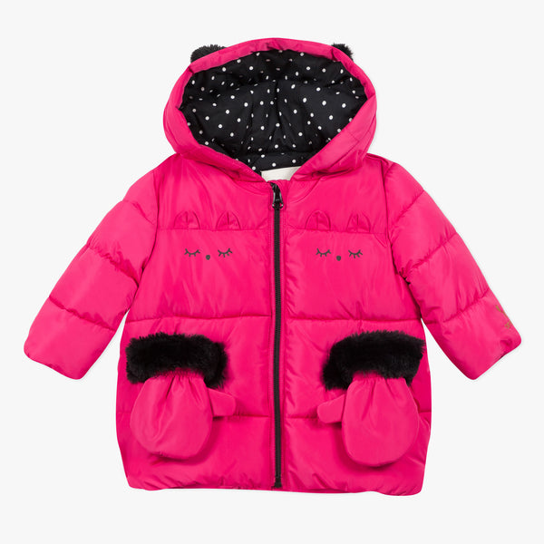 *NEW* Fuchsia pink hooded puffer jacket