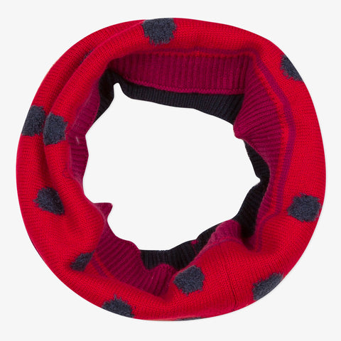 Red polka dot snood