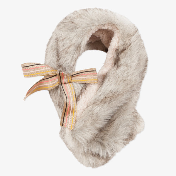 Beige faux fur snood