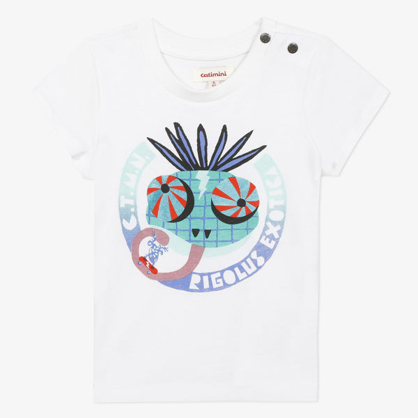 White short sleeve graphic T-shirt