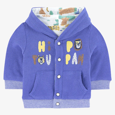 *NEW* Blue reversible hooded cardigan