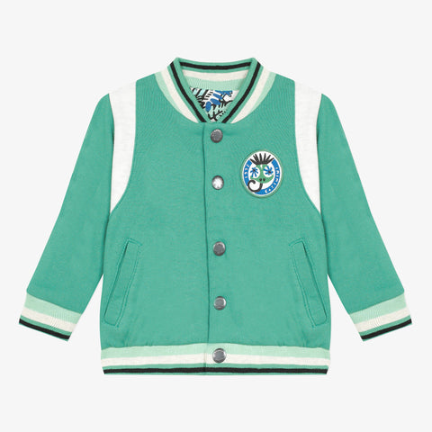 *NEW* Mint blue reversible varsity jacket