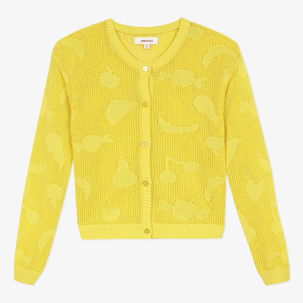 *NEW* Yellow knit cardigan