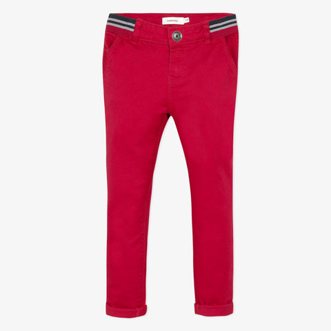 Red chino pants