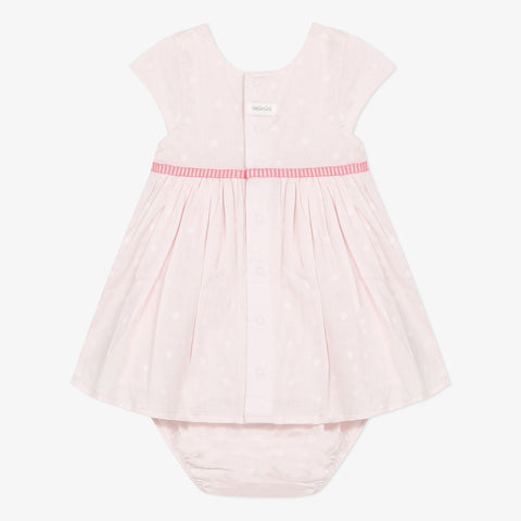 Light pink dress and bloomer set