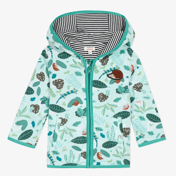 Jungle printed hooded jacket