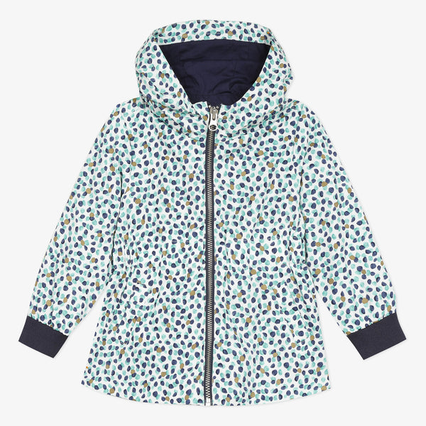 Blue micro dot windbreaker