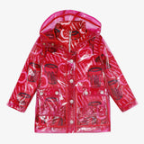 2 in 1 red transparent jacket