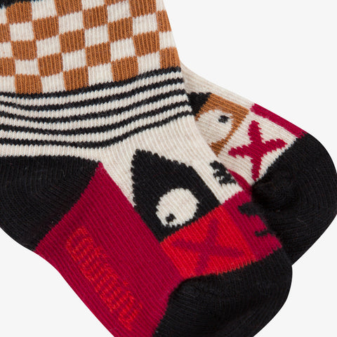 *NEW* Striped and checked jacquard socks