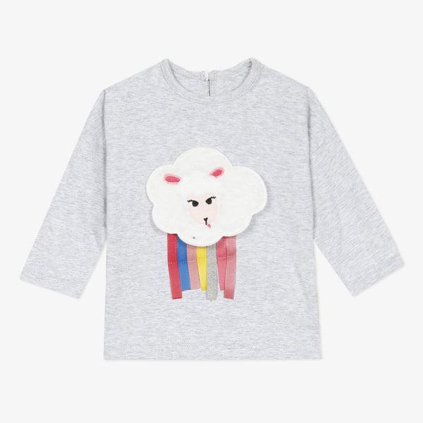 *NEW* Marl grey T-shirt with sheep visual