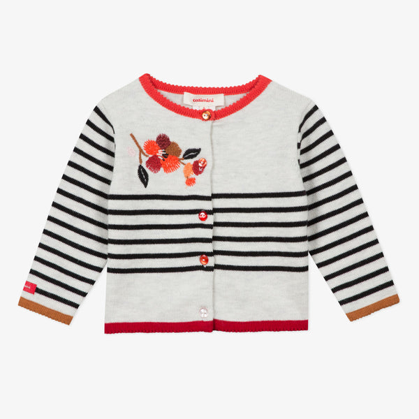 *NEW* Striped cardigan with embroideries