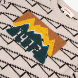 Heather graphic jacquard sweater