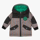 Reversible moss green parka