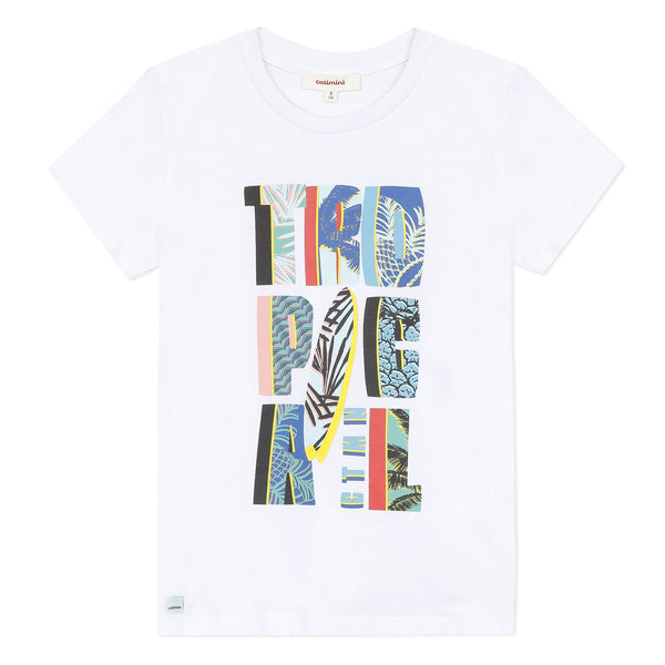 *NEW* White T-shirt with surfboard design