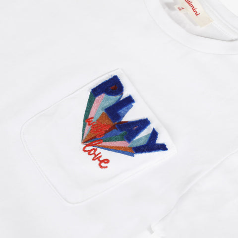 *NEW* White T-shirt with pocket