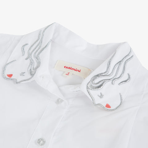 *NEW* White poplin shirt