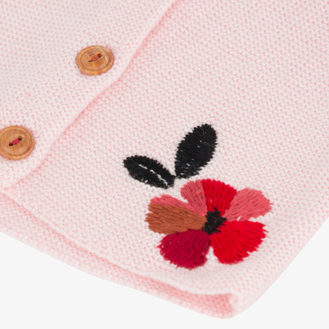 *NEW* Light pink embroidered knitted cardigan