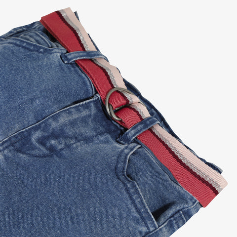 *NEW* Denim pants with colored belt