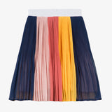 Multicolored pleated skirt