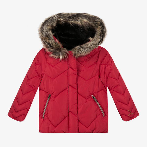 *NEW* Red coated padded jacket