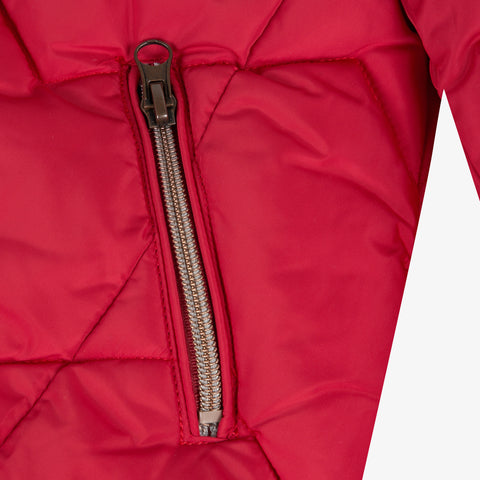Red coated padded jacket