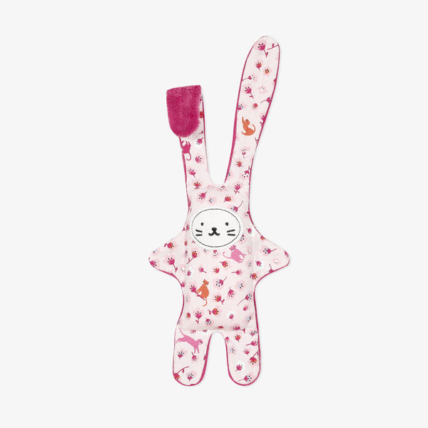 *NEW* Pink velour printed plush toy