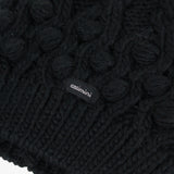 *NEW* Black knitted braided beanie