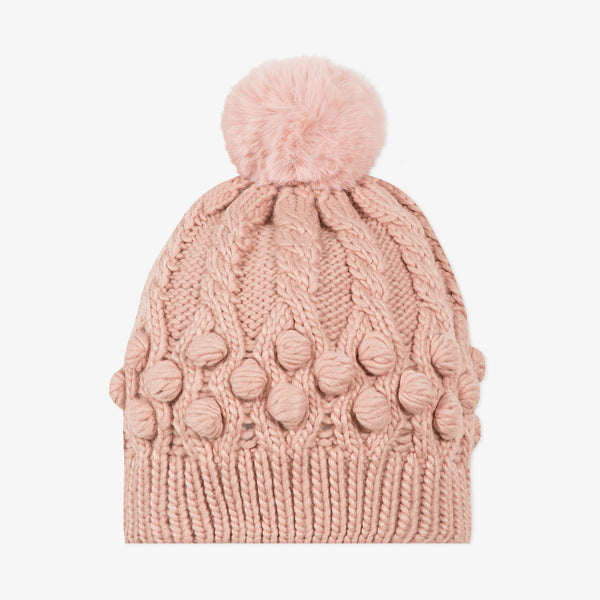 *NEW* Pale pink knitted braided beanie