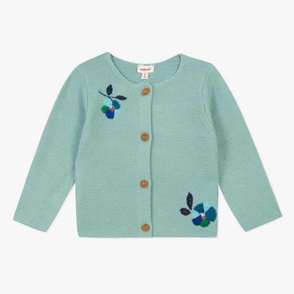 *NEW* Light blue embroidered knitted cardigan