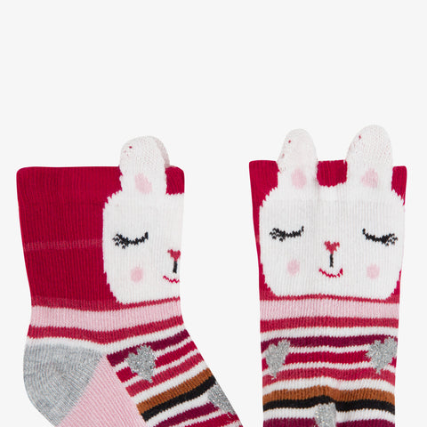 *NEW* Multicolored striped socks with 3D ears