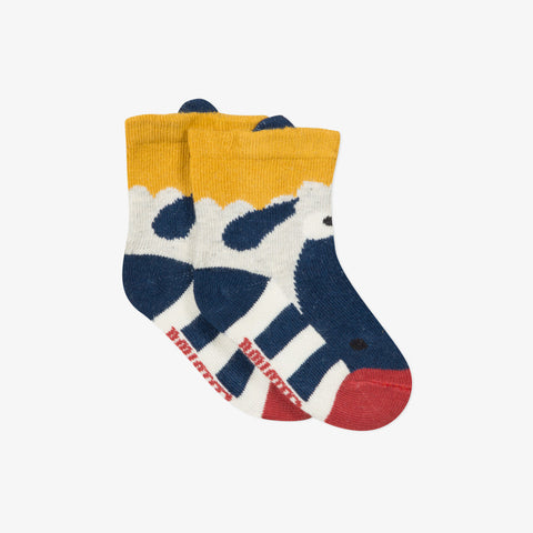 *NEW* Striped jacquard socks with 3D ears