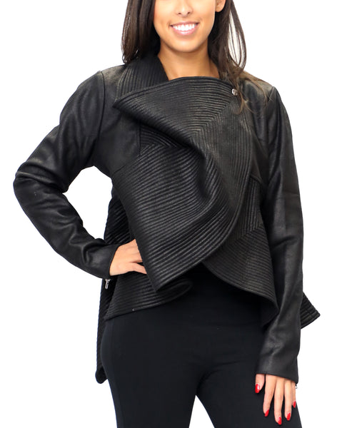 Zoom view for Faux Suede Peplum Jacket