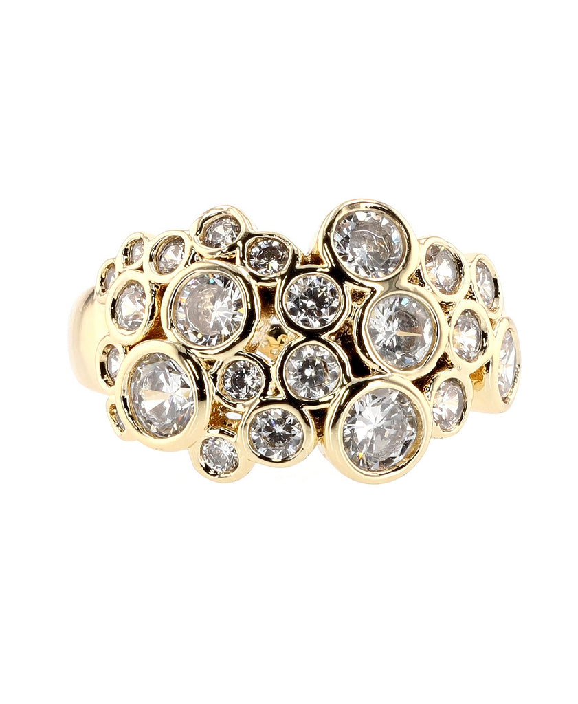 Cubic Zirconia Bubble Ring